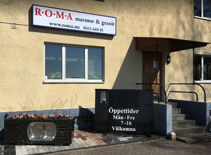 Roma Marmor & Granit stenhuggeri i Ystad
